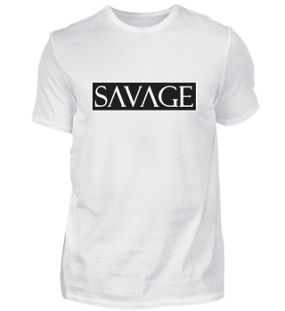SAVAGE Herren Basic T-Shirt BLACK