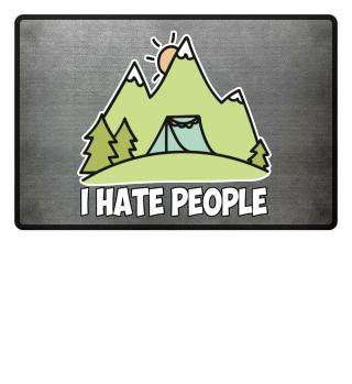 I hate people camping Fußmatte Geschenk