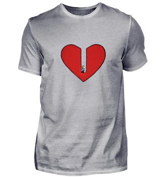 Schöne Liebes T-Shirt zum Valentinstag