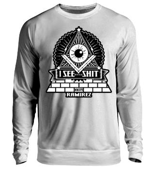 Herren Langarm Shirt Illuminati I See Shit Ramirez