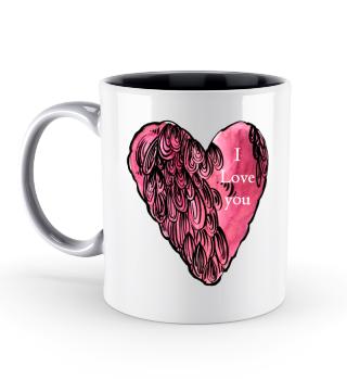 Rosa Herz Valentinstag Geschenk idee