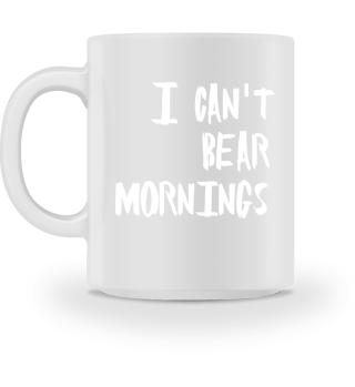 Cant BEAR mornings Cup black