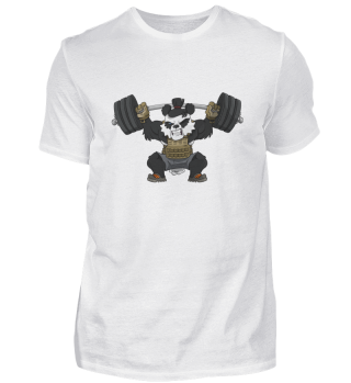 Top Knot Samurai Weightlifter Panda