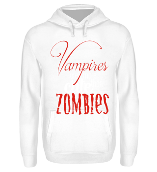Cute Vampires VS Zombies - red white