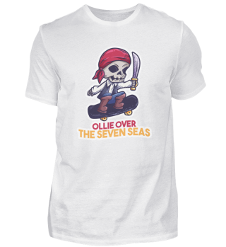 Skateboard Skelett Pirat Spruch Geschenk