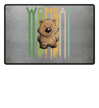 Retro Cartoon Wombat Funky Beuteltier