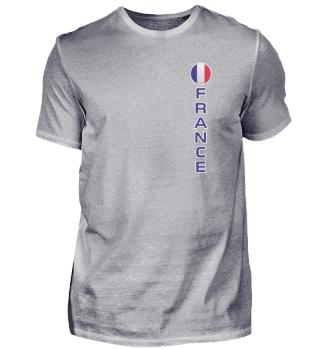 French Flag Round Pocket Modern Easy Read Vertical France print