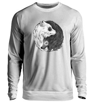 Yin Yang Wolf Sweatshirt