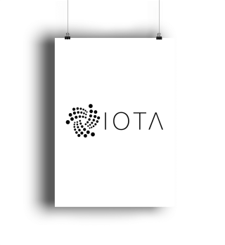 IOTA logo + text poster black
