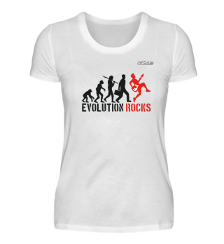 Damen Basic T-Shirt - Evolution Rocks