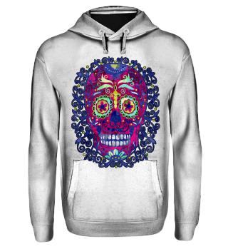 Mexican Skull Spirals Ornaments