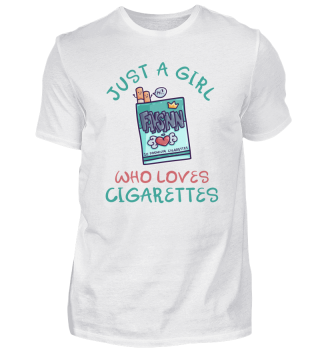 Just A Girl Who Loves Cigarettes box
