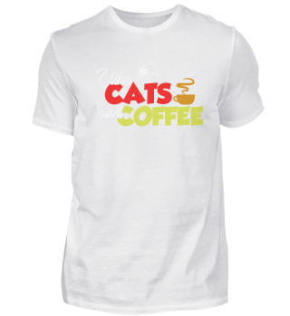 Coffee And Cats Lovers Gift Idea