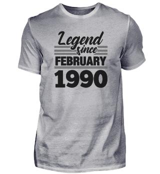 Legend Since February 1990