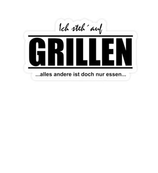 Aufkleber Grillen: Alles andere nur Esse