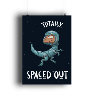 Spaced Out Dino Astronaut Weltall-Raptor