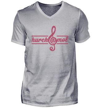 hurch@mol - V-Neck-Shirt - Frontprint