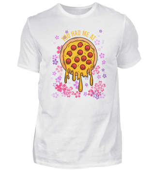 Pizza flowers Organic Vegan funny gift