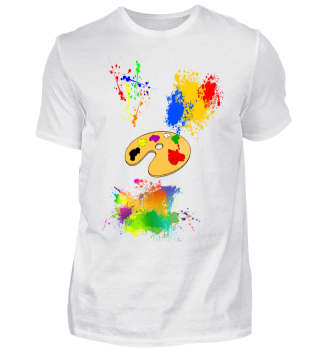 T-Shirt mit Farbkleckse, Farbpalette