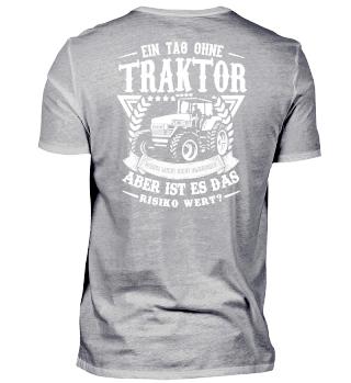 Landwirt · Traktor · das Risiko