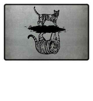 Katze Tiger Spiegel Fußmatte Hausmatte