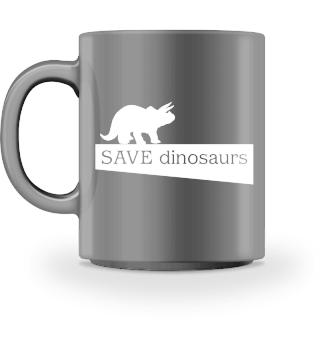 SAVE dinosaurs - white