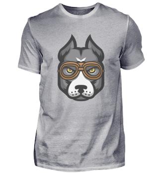 Pitbull in Brillen - Hundeliebhaber