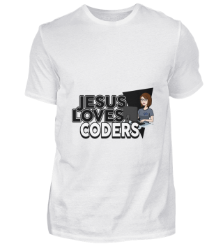 D001-0570B Female Coder Programmiererin