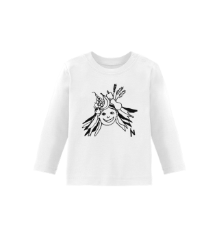 Girl with fruits - Baby t-shirt sleeves