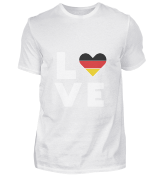I love LOVE Germany Flag Flag Heart