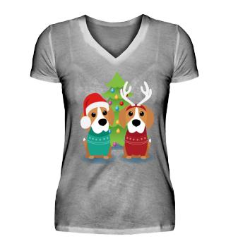 Beagle Weihnachten (Shirts, Hoodies und mehr)