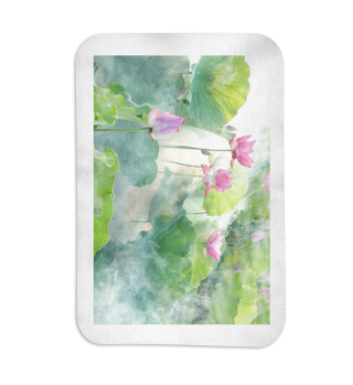 Fleecedecke o. Kuscheldecke Lotusblumen rosa Blanket Flowers