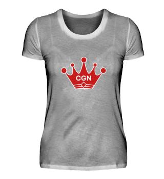 CGN mit roter Krone Damen Shirt