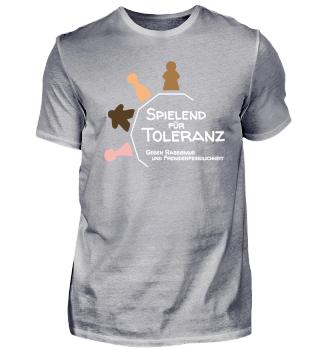 Spielend für Toleranz (dunkel)