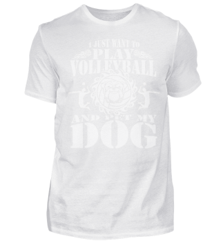 PLAY VOLLEYBALL DOG SPORT T-SHIRT