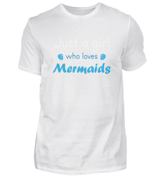 mermaid girl saying | shells