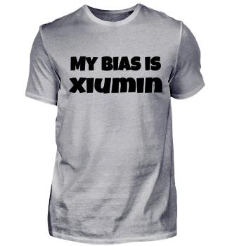 my bias is Xiumin