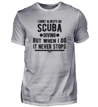 Scuba diver swimming underwater Gift