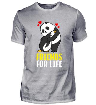 Panda & Pinguin beste Freunde Geschenk