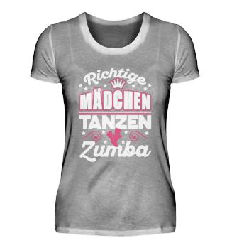Richtige Mädchen tanzen Zumba
