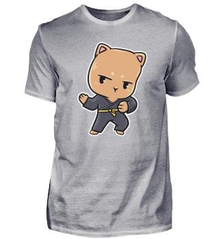 Katze Kinder Sport Karate Kampfkunst