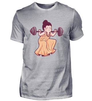 Gym Buddha Hantelstange Sport Glaube