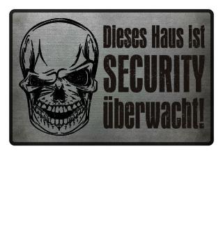 Skull SECURITY Haus - grunge schwarz