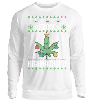 Ugly Xmas Sweater - Frohe Highnachten