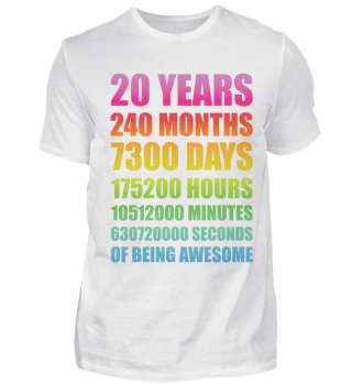 20 Jahre Geburtstag Jubiläum Geschenk
