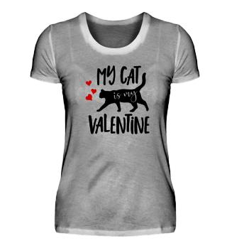 Valentines Day Cat Kitten Love T-Shirt