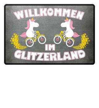Einhorn Fussmatte - Glitzerland