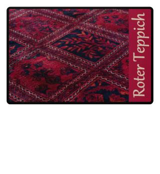 Ein roter Teppich Willkommen für nette Gäste Fußmatte