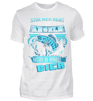 Angeln Angler Bier Spruch Stör nicht