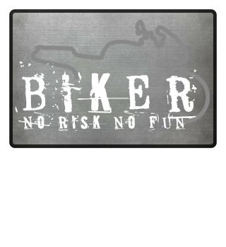Fußmatte Biker Motorradfahrer Motorrad